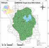 The priority area selected for the implementation of COMDEKS activities in Ethiopia is the Gilgel Gibe 1 catchment, with a total area of 127,800 ha. The landscape area for COMDEKS activities in Ethiopia is located in the Oromia regional state in Jimma zone about 260 km South West of Addis Ababa and about 55 km north-east of Jimma