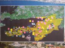 The map that was created by community members during the baseline assessment provided valuable information, not only on key characteristics of the area, but also underlined sensitive areas of interest, problems, opportunities, and threats.