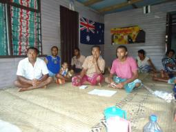 Villagers of Naqaravutu wait patiently to begin a consultative meeting to discuss landscape challenges and opportunities. Throughout the Natewa-Tunuloa peninsula the limitation on economic opportunities and poor social infrastructure have contributed to underdevelopment of the landscape. Poverty incidence for the landscape population is high; surveys conducted in 2009 indicate 62% of the total population from the two districts falling within this category.