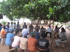 Village level meeting, Ghana
