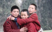 Brokpa kids at Sakteng. Brokpas are ethnic population living in Sakteng and Merak