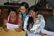 Indigenous women from the target landscape in Ecuador participating in the baseline assessment.