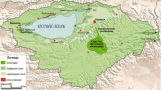 "Map of the ""Issyk-Kel"" biosphere reserve"