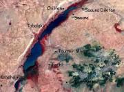 Terrain map of target landscape area Niger